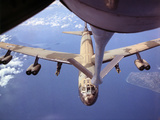 View of USAF B-52 Stratofortress Bomber in Flight