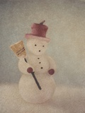 Snowman and Broom by Jennifer Kennard