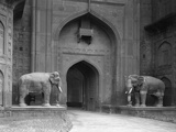Elephant Statues at Red Fort