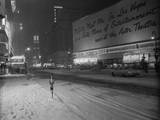 Snowstorm in New York City Leaves times Square Deserted