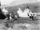 Native Americans Dance amongst Teepees
