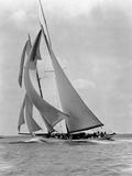The Schooner Half Moon at Sail