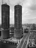 Facade of Marina City Towers