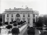 Grounds of White House after Death of President Harding