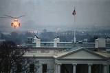 Helicopter Landing over White House Roof