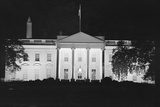 View of a Dimmed White House Building