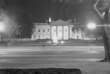 Exterior of White House at Night