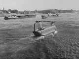 Helicopter Traveling on Water