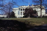 Flag Flying at Half-Staff outside White House