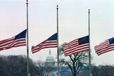 Washington Flags at Half-Staff