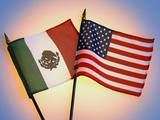 Flags of Mexico and United States