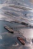 Aerial of Ships Docked in Port of Valdez