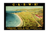 Turnberry Hotel and Golf Courses  Poster Advertising British Railways
