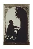 Austria  Vienna  Silhouette of Composer Anton Bruckner at the Organ