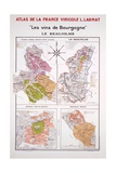 Map of the Beaujolais Region