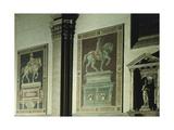 Equestrian Statue of Niccolo Tolentino  Fresco Painted in 1456