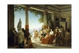 Empress Livia Attending Grape Harvest on Hills of Grignano