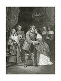 Cromwell and His Daughters  19th Century