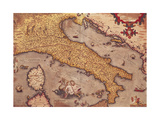 Map of Italy from Theatrum Orbis Terrarum