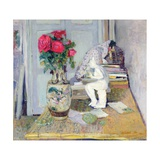 Statuette by Maillol and Red Roses  C1903-05