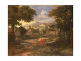 Landscape with Moses Saved from the River Nile