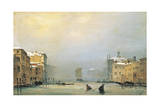 Venice  Snow and Fog on Grand Canal  1842