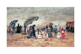 Parasols on the Beach  Trouville  1886