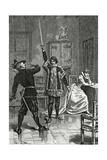 Ruy Blas Confronts Don Salluste  19th Century