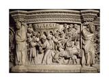 Figures of Prophets Framing Massacre of Innocents  Scene from Life of Christ