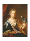 Portrait of a Lady Feeding a Parrot