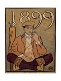 Golf Calendar  Poster  1899