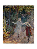 Young Girls Playing in the Garden  1899