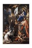 St Bonaventure Receiving Banner of St Sepulchre from Madonna