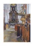 Interior of St Michaelis in Hamburg  1890