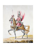Horseman with Wings'  Costume Design for 'Le Carrousel Des Galants Maures'  1686