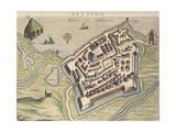 Map of Nettuno  from Theatrum Civitatum Et Admirandorum Italiae
