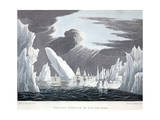 Passage Through the Ice  16th June 1818  Illustration from 'A Voyage of Discovery'  1819