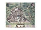 Map of Norcia  from Theatrum Civitatum Et Admirandorum Italiae