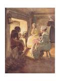 The Old Dame in the Chimney Corner