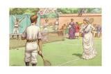 Lawn Tennis Being Played in the Victorian Age