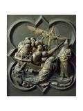 Christ in Storm  Bronze Panel