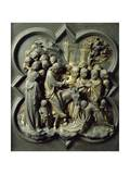 Triumphal Entry of Christ into Jerusalem  Gilded Bronze Panel