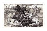A Cossack Soldier Tries to Stop Aimee Ladoinski Crossing the River Berezina