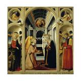 Annunciation Showing St Apollonia  St Luke and Prophets David and Isaiah