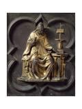 Church Father  Bronze Panel