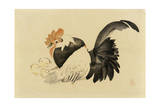 Rooster  Hen  and Chicks  Meiji Era  1870-79
