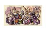 Harfleur Besieged by King Henry V