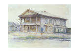 Surikov's House at Krasnoyarsk  1890-91