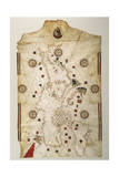 19th Century Copy of the Nautical Planisphere  1500