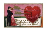 Valentine's Greetings Postcard